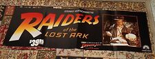 vintage RAIDERS OF THE LOST ARK video store sign long poster