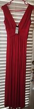 NEW BCBG MAX AZRIA NEW RED LESLEY LONG EVENING URF6Q323 GOWN SIZE SP (KR)