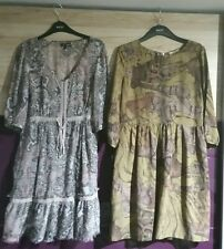 2 x Womens Stunning Printed Dresses by Next & Littlewoods, UK 14 (EURO 42)