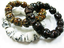 3Pcs Cool Man's Barbarian Skull Head Cool Mix Style MiNi Gothic Bracelets