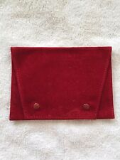 "100% ALL ORIGINAL  ""CARTIER""   RED SUEDE SERVICE POUCH."