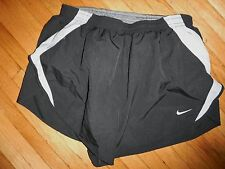 NIKE Running Mens Shorts LARGE High Cut Split leg  DRI-FIT track 2 in 1 brief