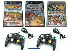 ## Mario Kart + Party 4 + Smash Bros. Melee & 2 Control Pads Nintendo GameCube #