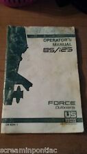 Force Owners Manual 85 125 Outboards US OB 4204-1