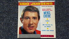 Udo Jürgens - Merci, Cherie/ Rubia 7'' EP Single SUNG IN SPANISH
