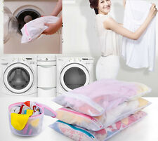 3x Zipped Laundry Washing Net Mesh Bra Socks Underwear Machine Wash washer Bag