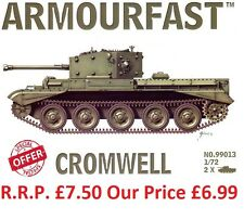 NEW Armourfast 1/72 British Cromwell Tank  Model Kit - Contains 2 Tanks (99013)