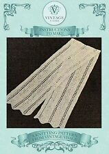 Vintage easy to make pretty lace stitch scarf knitting pattern-free UK postage