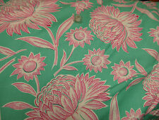 Mod Girls Diane Sis Boom for Free Spirit 1 yard Cotton Fabric Green White & Pink
