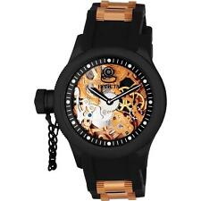 NEW Mens Invicta Russian Diver Skeleton 18K Rose Gold Mechanical Watch - 1847