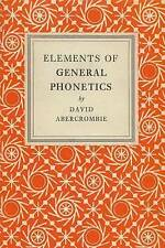 Abercrombie-Elements Of General Phonetics  BOOK NEW