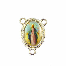 Virgin Mary Miraculous Catholic center metal rosary beads finding junction