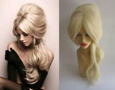 LONG BLONDE WAVY DRAG QUEEN BEEHIVE BIG HAIR HEAT RESISTANT COSPLAY WIG