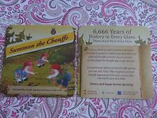 Beer Brewery Coaster: Brasserie D'Achouffe ~ Summon the Chouffe ~ Gnome Spotting