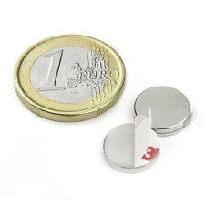 Super Magnete Disco in Neodimio AUTOADESIVO 12 x 2 mm. 1,3 Kg SCHIUMA ESPANSA