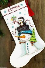 "Dimensions Counted Cross Stitch Kit 16"" Stocking ~  JOLLY TRIO #70-08937 Sale"