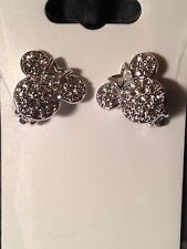 Disney Swarovski Crystal  Minnie Mouse HEAD Clip Earrings