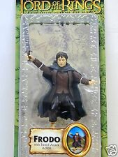 LORD OF THE RINGS LOTR FRODO SWORD ATTACK ACTION FIGURE TOYBIZ FELLOWSHIP RING