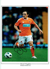 David VAUGHAN Signed Blackpool Autograph 16x12 HUGH Photo AFTAL COA