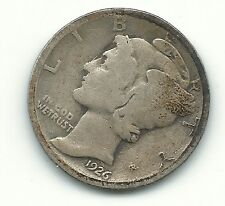 A Vintage Very Nice 1926 P Mercury Silver Dime-Old Us Coin-Oct616