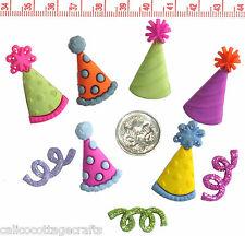 Novelty Buttons Embellishments Birthday Party Hats # 385