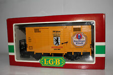 LGB G SCALE #4031B BERLINER KINDL 750 JAHRE BEER BOXCAR, EXCELLENT, BOXED