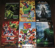 6 Promo Comic Art Poster Lot ~ Batman Hulk Spiderman Green Lantern Avengers Thor