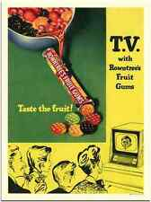 Metal Sign 04 19K Tv With Rowntrees Fruit Gums 1 1950S A3 16x12 Aluminium