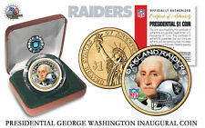 OAKLAND RAIDERS NFL USA Mint PRESIDENTIAL Dollar Coin-IN VELVET BOX AND COA*NEW