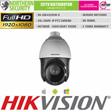 PTZ IP Cámara Hikvision DS-2DE4220IW-D 2MP 1080P 4.7-94mm 20x Zoom 100M IR Onvif