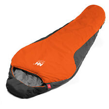 0 Degree Mummy Sleeping Bag Cold Weather Outdoor Camping with Carrying Bag