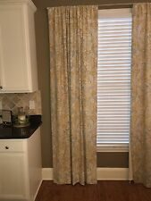 """Pottery barn Celeste Drapes Curtain Panels 4 Available Gold Blue Ivory Taupe 96"""""""