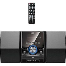 Mini Hi Fi Stereo System Bluetooth DVD Player CD MP3  USB Input Aux In FM Radio