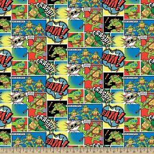 "1 yard Teenage Mutant Ninja Turtles ""Comic Patch""  Fabric"