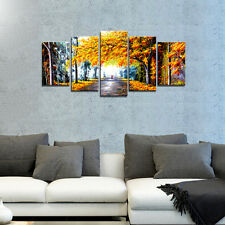 Canvas Art Print Painting Pic Home Decor Poster Autumn Forest Landscape Framed