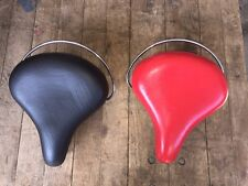 bicycle seats schwinn columbia vinyl naugahyde pair of  cruiser bike  saddles