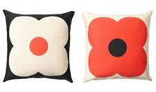 "NWT ORLA KIELY SLATE BLUE / RED GIANT ABACUS CUSHION THROW PILLOW 18"" x 18"""