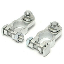 2Pcs Positive & Negative Cargo Type Zinc Coat Battery Terminals