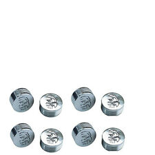 "CY-CHROME EAGLE DESIGN METAL BOLT COVERS; 3/8"" Button Head (pack of 8)"