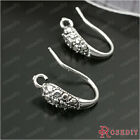 (28034)10PCS Height 15MM Antique Silver Copper Earring Hook Jewelry Findings