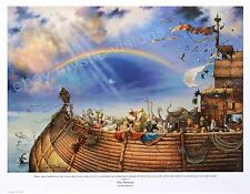 """THE PROMISE HAND SIGNED by Tom duBois Large 14.25"""" x 20.25"""" Image Noahs Ark"""
