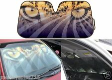 Mesmerizing Hypnotic Leopard Eyes Auto Sun Shade 58x28 Jumbo Foil New Free Ship