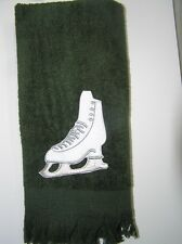 Ice figure skating blade towel green NEW gift item FREE SHIPPING