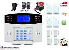 Alarme Maison Sans Fil GSM SMS/Appel Automatique Fonction Temporisation 4D+4O