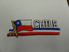 PATCH COUNTRY FLAG SEW ON JACKET SHORT OR PANTS CHILE DIFFERENT STYLE