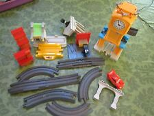 Fisher Price Geo Trax Train Track pieces part Disney Cars lot tower ben McQueen
