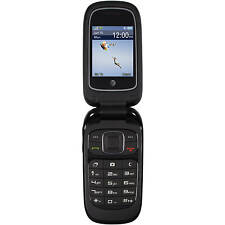 AT&T GoPhone ZTE Z223 Prepaid Flip Cell Phone (Black) - NEW