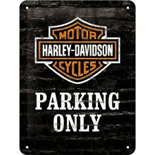 Harley-Davidson Parking Only, Motorcycles Badge, Small 3D Metal Embossed Sign