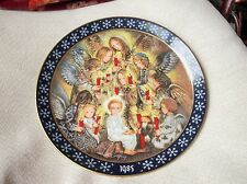 COLLECTABLE LIMITED EDITION PLATE SULAMITH WULFING 1985 DIE NACHTWACHE DER ENGEL