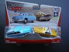 DISNEY PIXAR CARS MRS THE KING TEX DINOCO 2 PACK 2013 SAVE 5% WORLDWIDE